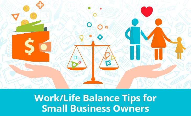 infographic on work-life balance for small business owners in Weston, Florida